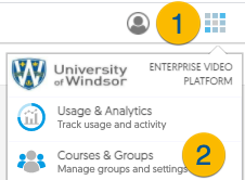 Access the Usage and Analytics section in YuJa