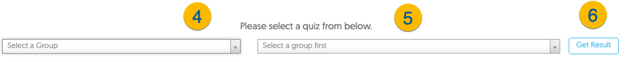 Accessing the Quiz Results